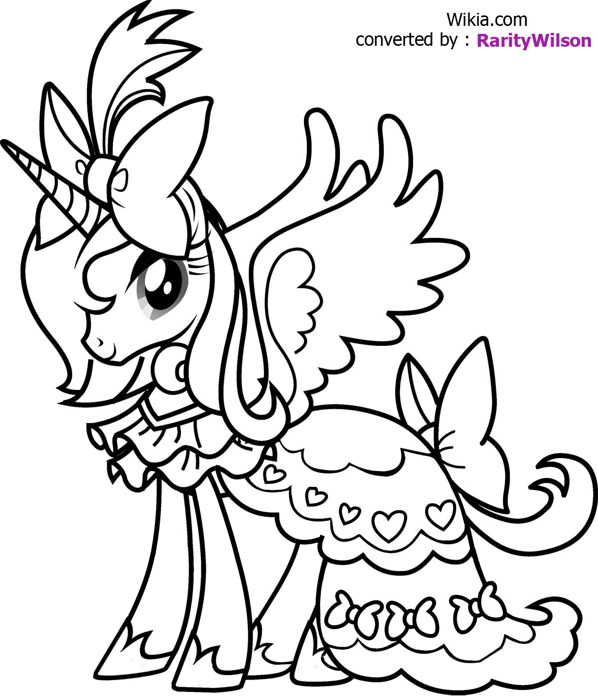 Little Pony Coloring Pages Team Colors
