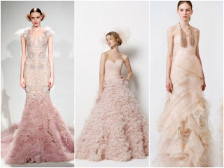 Wedding Dresses with Color Salmon