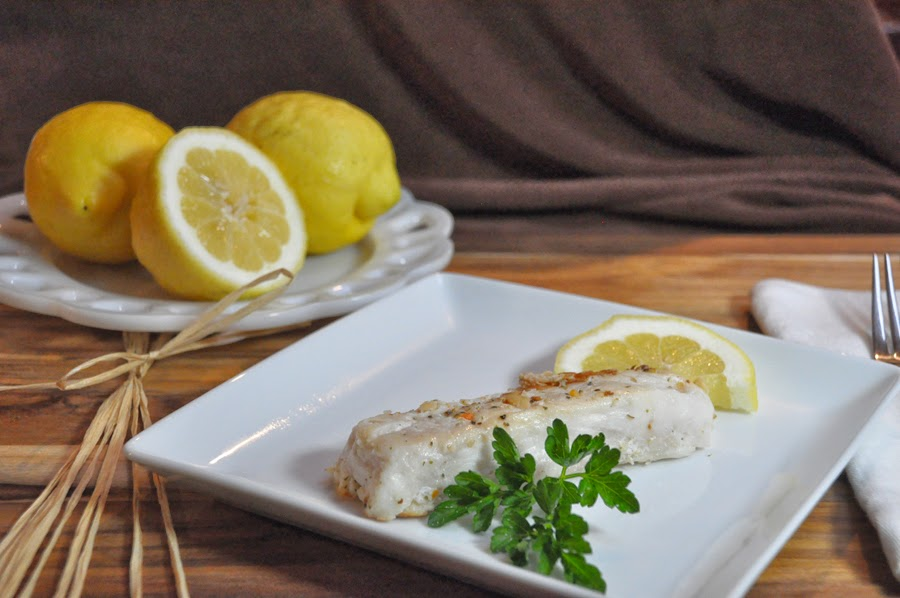 Hake in Champagne and Lemon Sauce