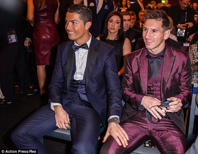 Christiano Ronaldo And Lionel Messi At Ballon d'Or