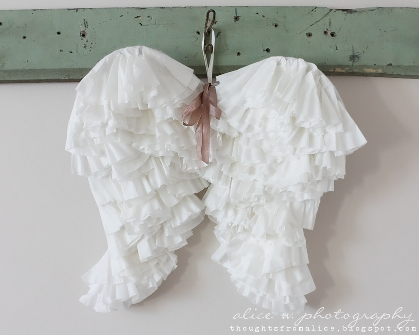 Coffee Filter Angel Wings - Thoughts from Alice