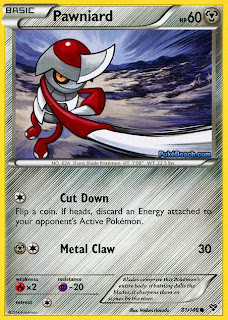 Pawniard Pokemon X and Y Card