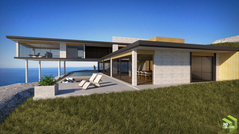 Sketchup texture august 2014 3d challenge modern for Modern house sketchup