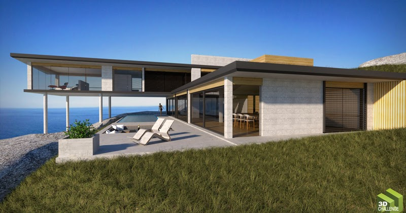 Sketchup texture august 2014 3d challenge modern for Modern eco homes