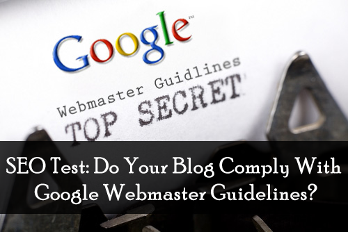 SEO Test: Do Your Blog Comply With Google Webmaster Guidelines?