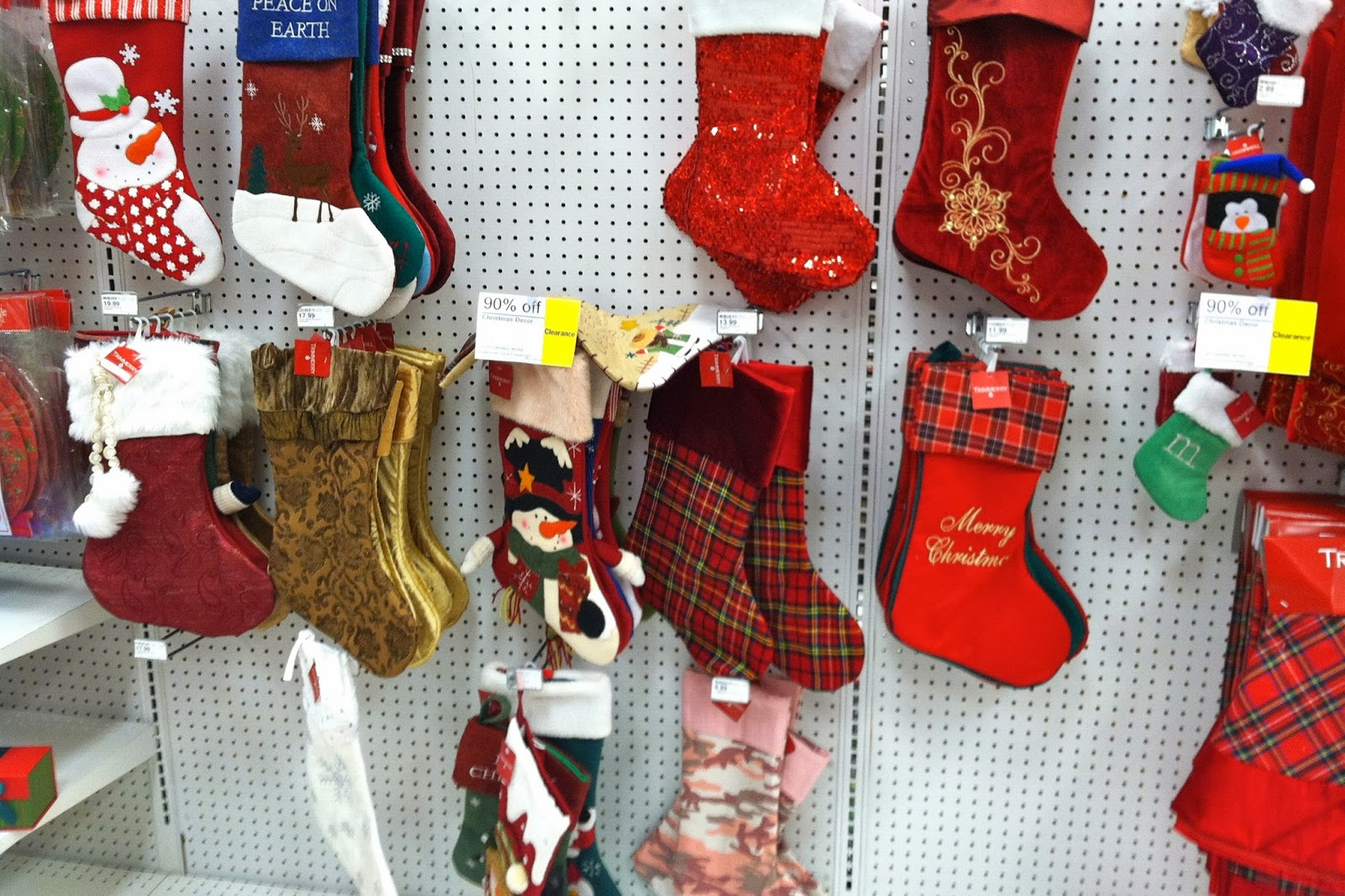 hobby lobby started their 90 off this past monday i forgot to call and find out when they were dropping ive failed you last night they had a couple - Hobby Lobby Christmas Stockings