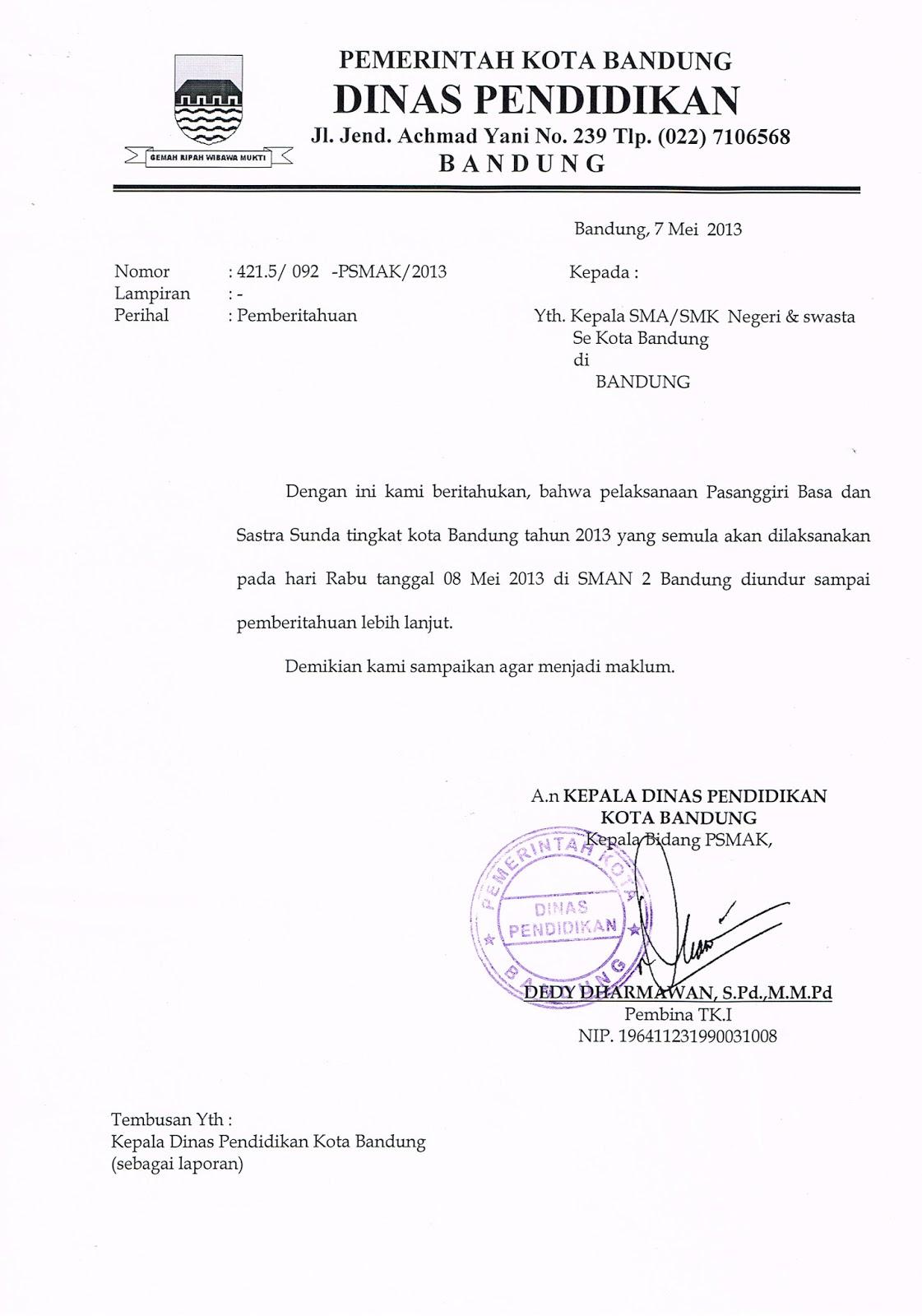 Musyawarah Kerja Kepala Smk Kota Bandung Delay Pasanggiri