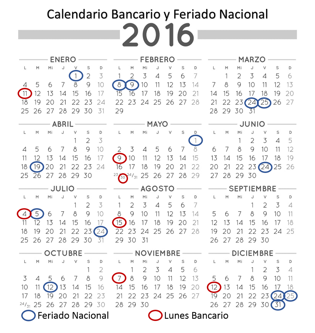 E b n bernardo ohiggins calendario 2016 para imprimir for Calendario junio 2016 para imprimir