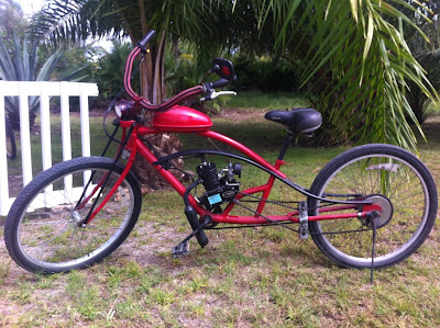 Motorized Bike Made In Placencia - McKinley Pritchard in Placencia Belize