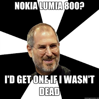 Steve Jobs fucking loves Nokia Lumia 800!