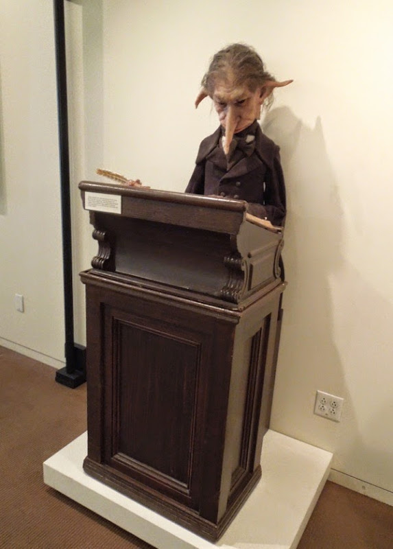 Gringotts Wizarding Bank goblin puppet Harry Potter Philosopher's Stone