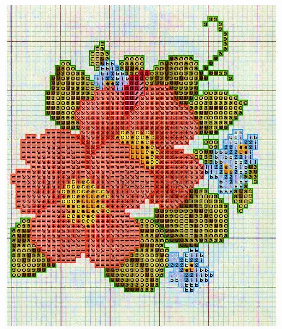 Схема вышивок нитками мулине 782
