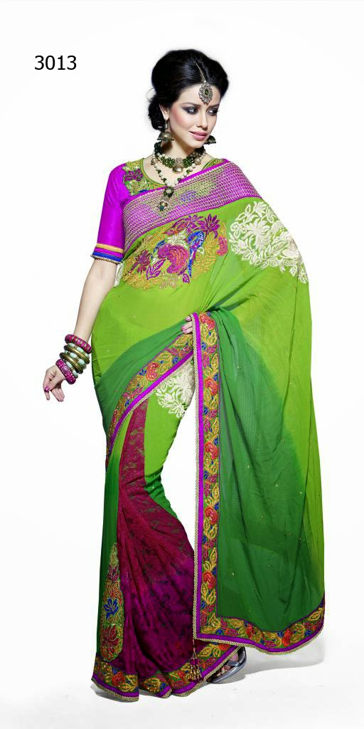 Letest Lengha type Saree-Online Shopping, Exclusive Designer Embroideries Resham Work Saree in Udaipur