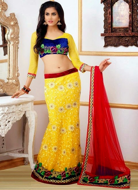 Fish Style Costly Lehenga Designs