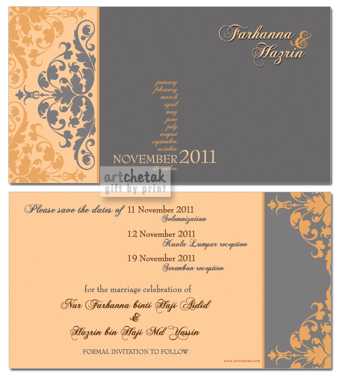 Gift by print kad kahwin 2011 save the date card stopboris Gallery