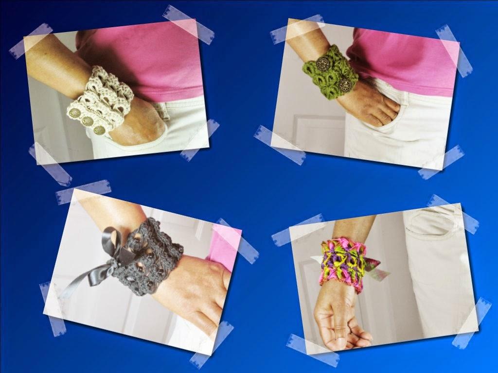 Lablun\'s Stitch Art: Broomstick Lace Crochet Bracelet Pattern
