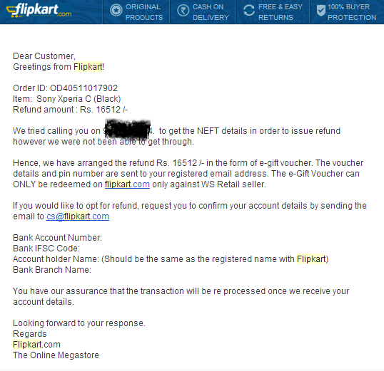 flipkart return headache