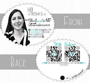 Silhouette Cameo Tutorial Dual Sided Business Cards | www.blackandwhiteobsession.com