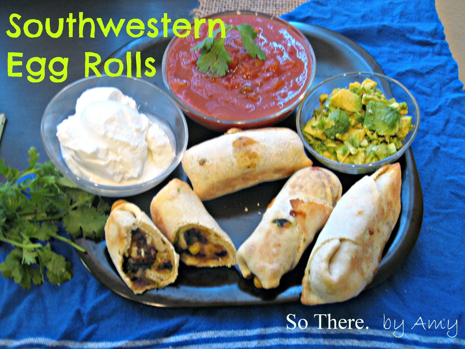 Tailgating Recipes: Southwestern Egg Rolls – 3 Boys and a Dog