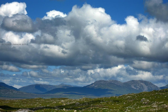 mountains, clouds, Roundstone © Annie Japaud Photography