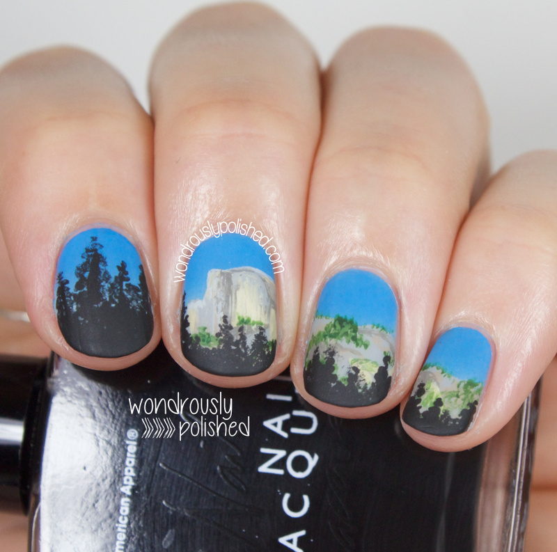 Wondrously polished the digital dozen does summer day 4 sunset the digital dozen does summer day 4 sunset glow on half dome nail art prinsesfo Choice Image
