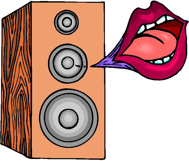 Powerful Speaker Free Clipart