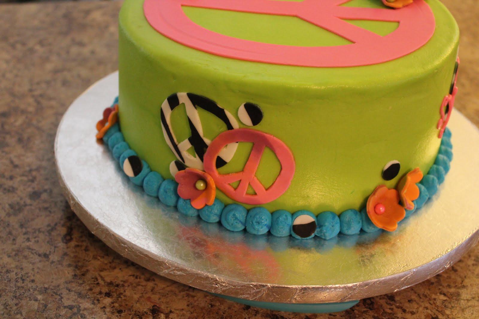 Peace Sign Cake Cutter