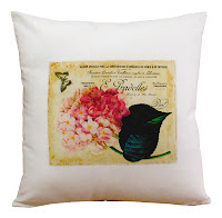 almofada vintage, almofada floral vintage, almofada romântica