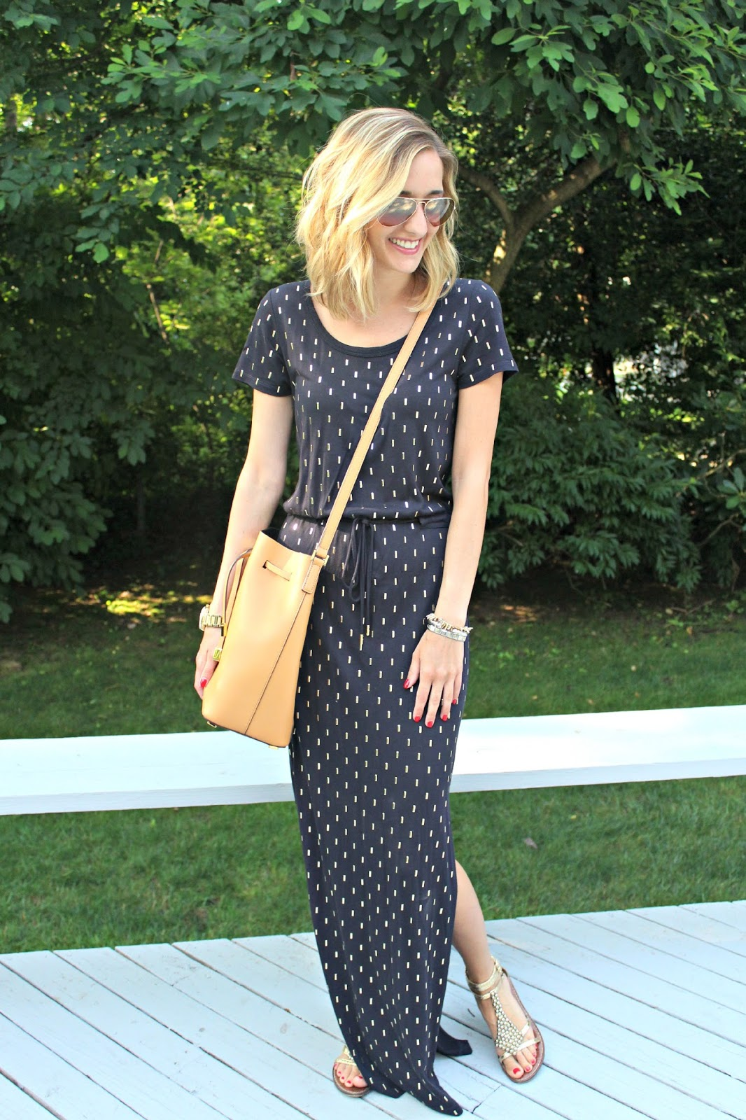 michael kors casual maxi dress
