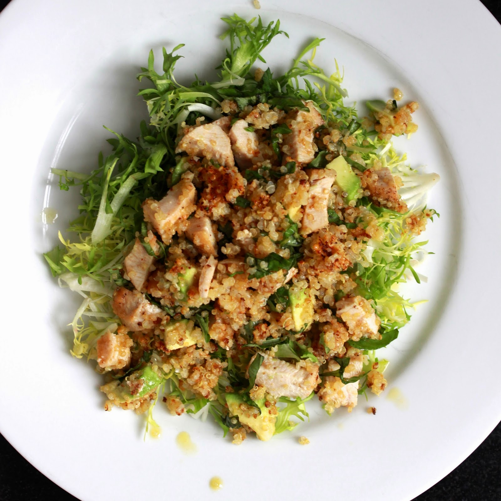 Crispy Quinoa Chicken Salad