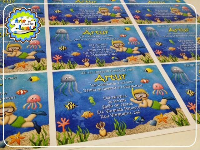 Arte Muito Legal - Convites infantis e Lembrancinhas Especiais- CLIQUE NA IMAGEM E FAÇA ORÇAMENTO