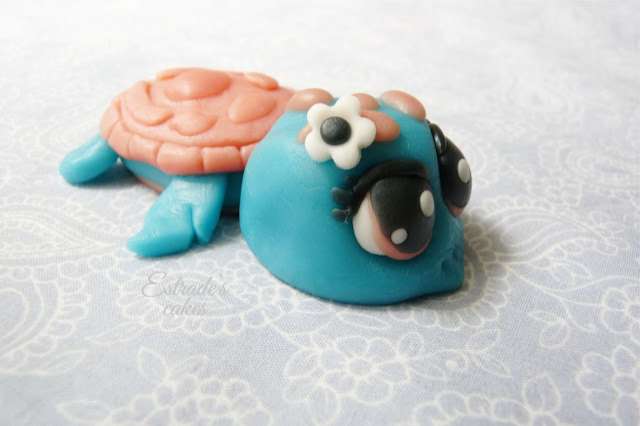 tortuga modelaje chocolate plástico blanco - 1