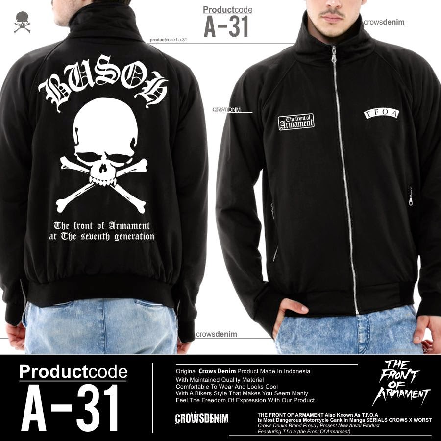 Jaket T.F.O.A Crows Zero
