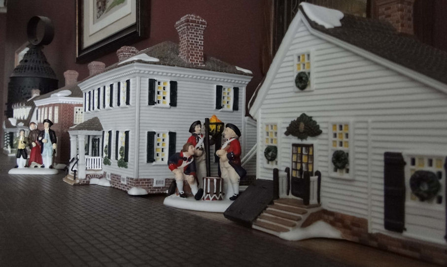my first few dept 56 williamsburg houses