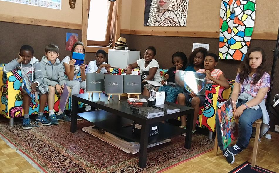 School Students visiting Ben Heine's Studio - 2014