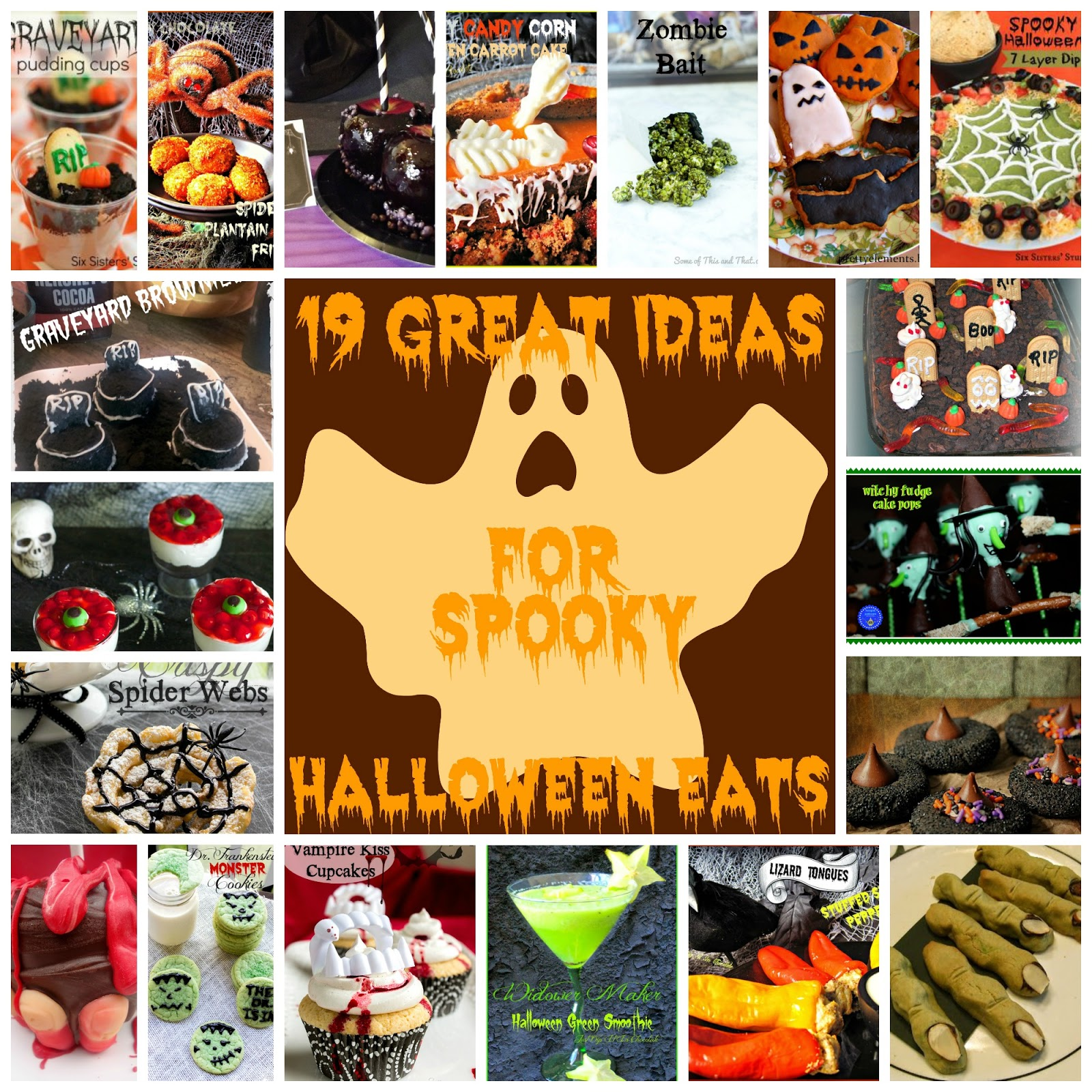 This is a Great Idea Thursdays #roundup of spooky food for Halloween