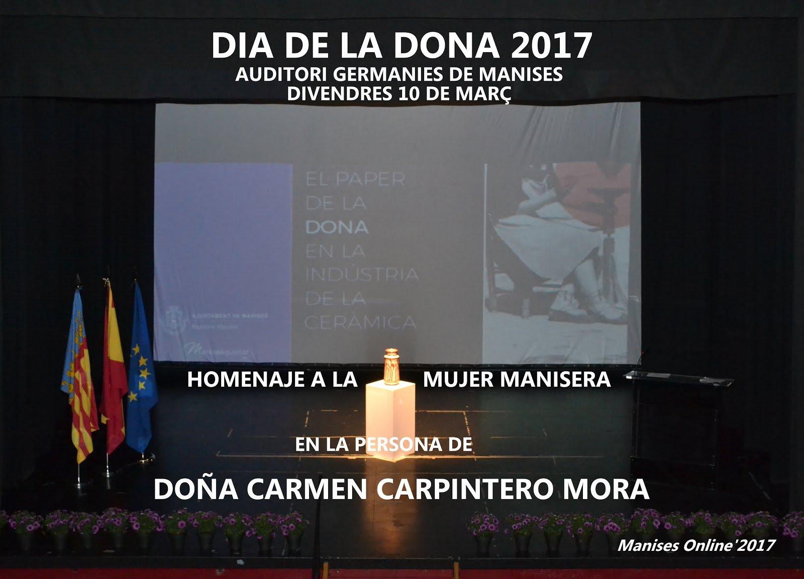 10.03.17 DIA DE LA DONA 2017, HOMENAJE A DOÑA CARMEN CARPINTERO MORA
