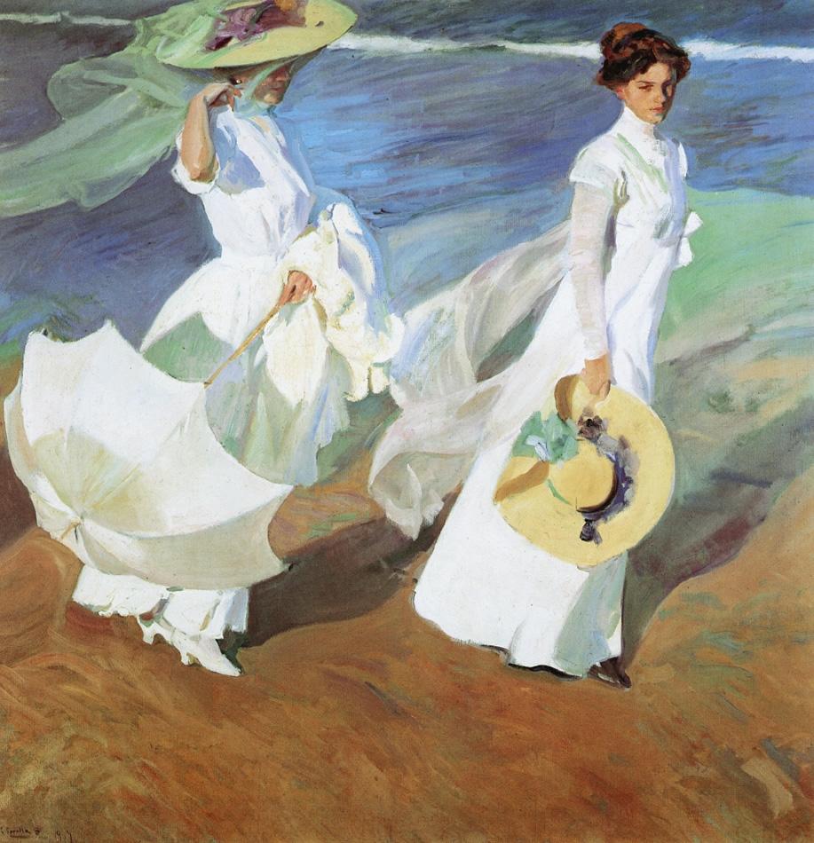 """""""Mujeres caminando en la playa"""" de J. Sorolla"""