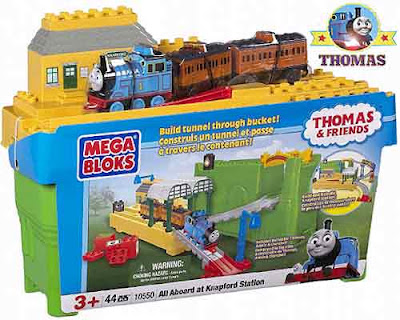Cheap new to buy railway track Toy Thomas Mega Bloks sets Knapford Station childrens building bricks