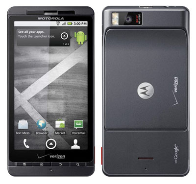 Motorola Droid front and back