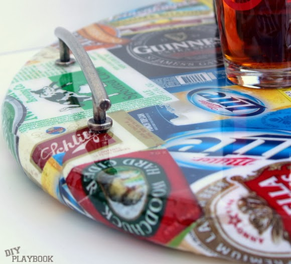 high gloss tray will cure in 72 hours: DIY Beer Tray | DIY Playbook