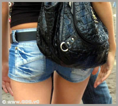 Micro jeans shorts