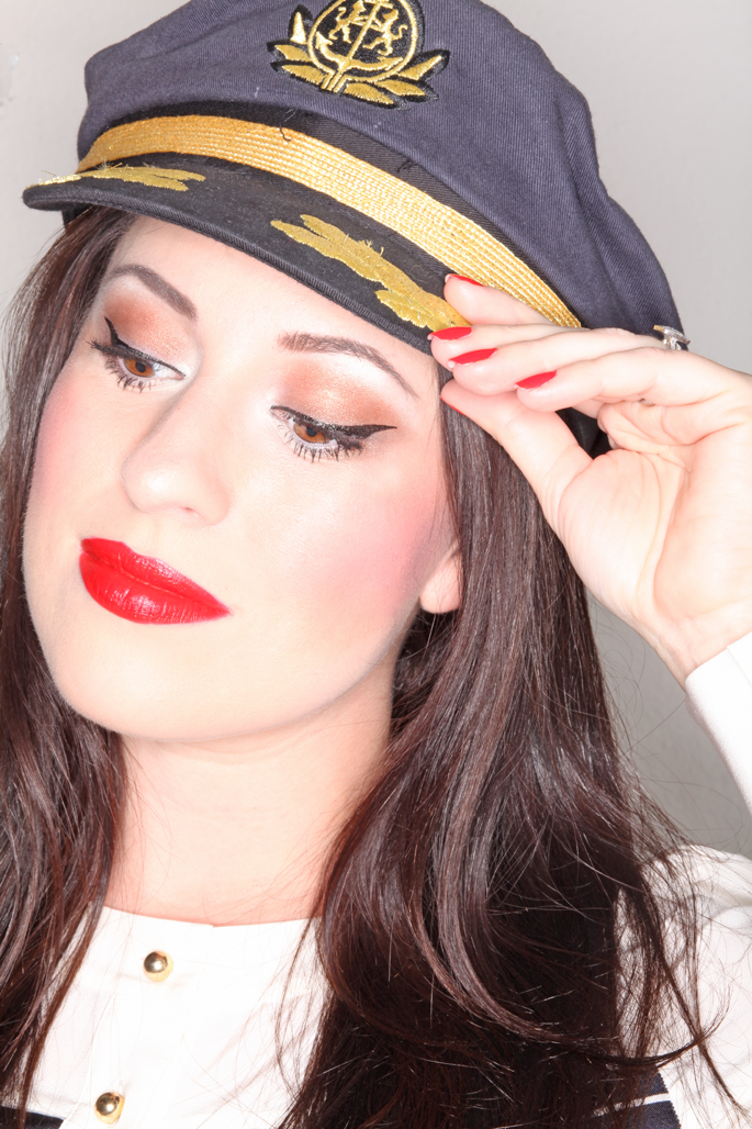 captains-hat-sailor-look-red-lipstick-red-nails-san-diego-style-winged-eyeliner-stila