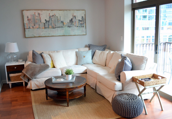 White couch area