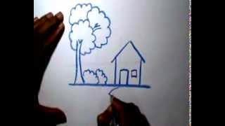 cara menggambar rumah dalam psikotes