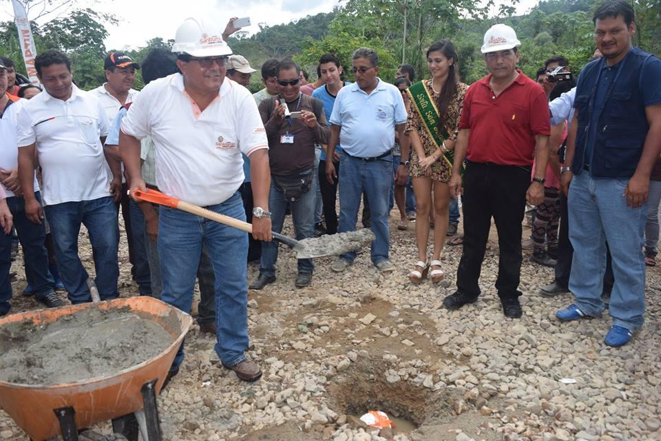 GOBIERNO REGIONAL DE SAN MARTÍN PONE PRIMERA PIEDRA DE PUENTE CAMOTE EN LA ZONA DE FRONTERA CON HUÁ