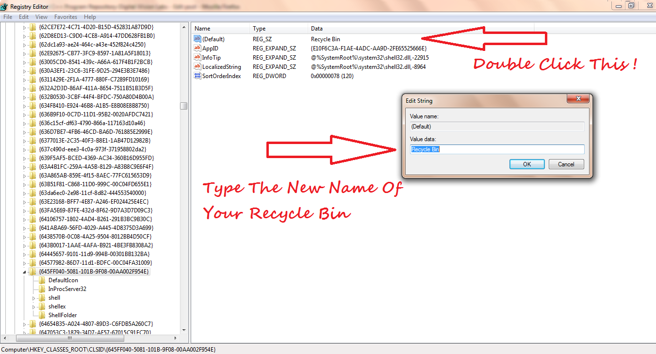 Renaming Recycle Bin In Windows