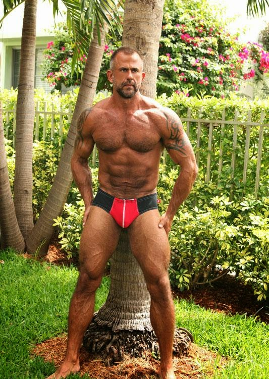 Hairy Chested Muscle Men