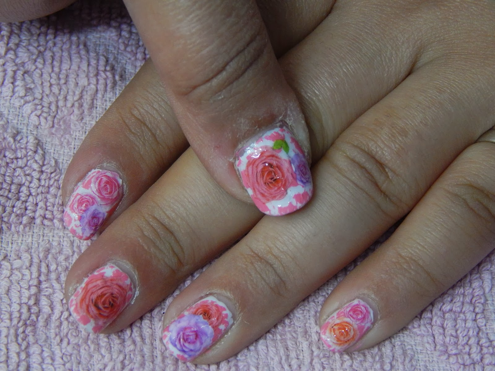 Crackle Flowery Nail Art Design Tutorial Her Creative Palace