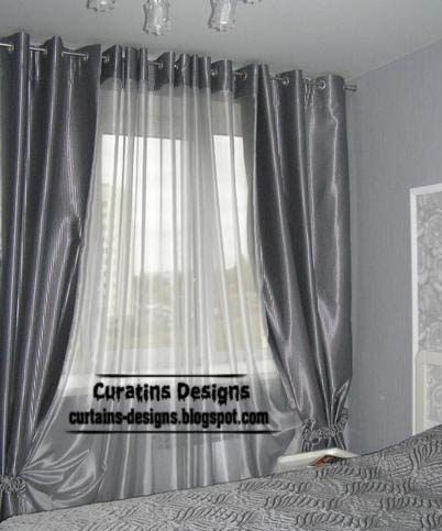 Metal Curtain Rod Finials Linen Bedroom Curtains